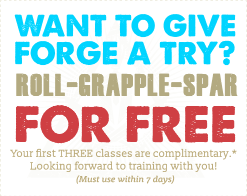 FORGE coupon. Three free classes!
